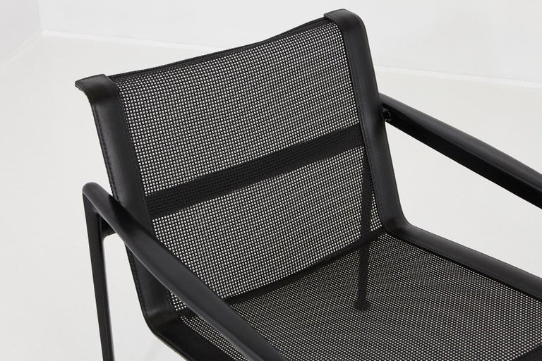 Aluminum Richard Schultz All Black Garden Lounge Chair from the '1966 Collection' For Sale