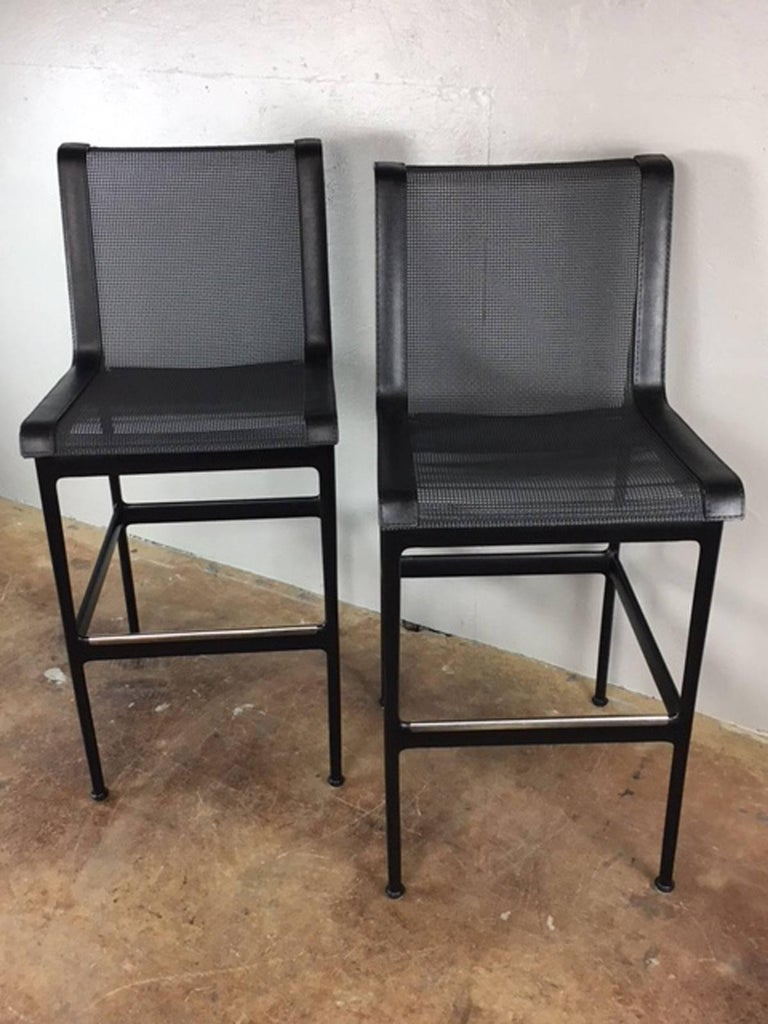 Steel Richard Schultz Bar Stools or Chairs For Sale
