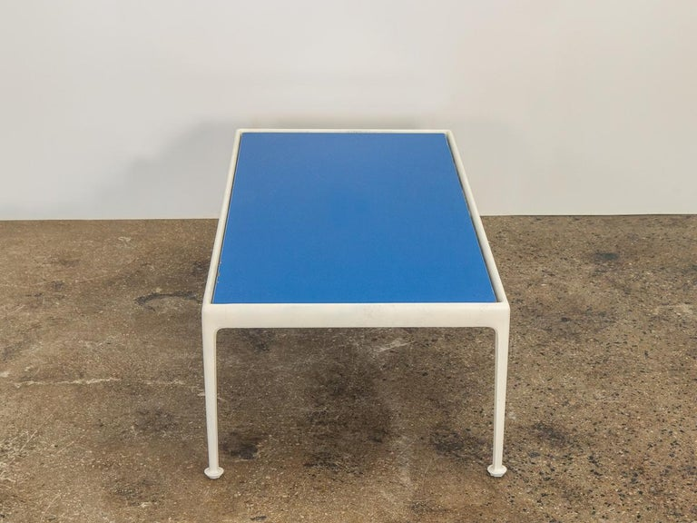 Mid-Century Modern Richard Schultz for Knoll Blue Coffee Table For Sale