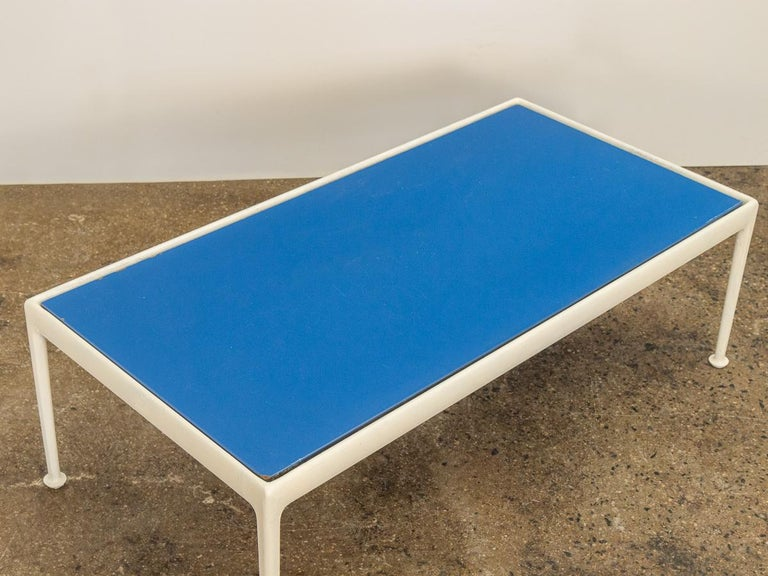 American Richard Schultz for Knoll Blue Coffee Table For Sale