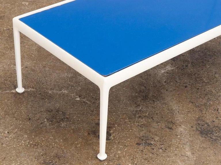 Enameled Richard Schultz for Knoll Blue Coffee Table For Sale