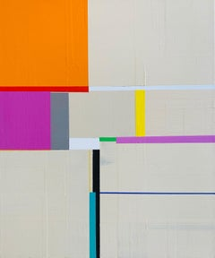 untitled 2000, acrylic on canvas, abstract geometric painting