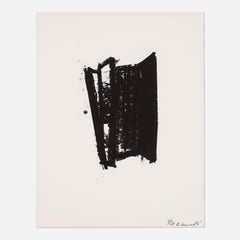 Richard Serra Sketch #6 Signed Limited Edition Lithograph Print