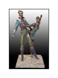 Richard Shiloh Large Original Bronze Sculpture Dance Figurative Signed Artwork