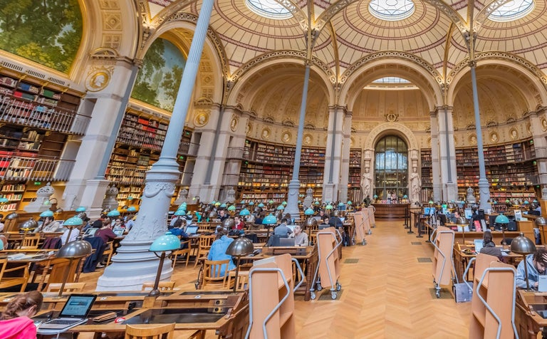 Labroust Reading Room, Paris - color photography - Contemporary Photograph by Richard Silver
