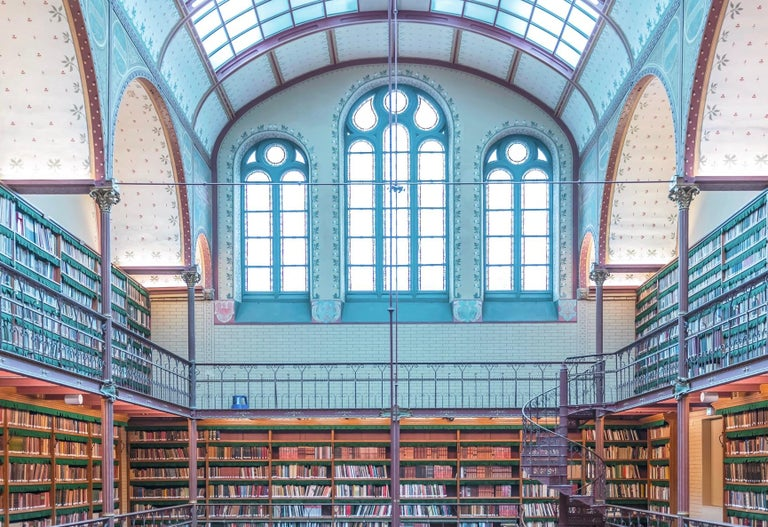 Rijks Museum Library - color photography - Photograph by Richard Silver