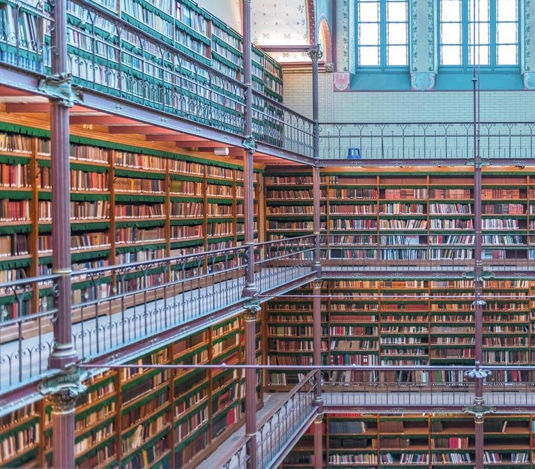 Rijks Museum Library - Contemporary Photograph by Richard Silver