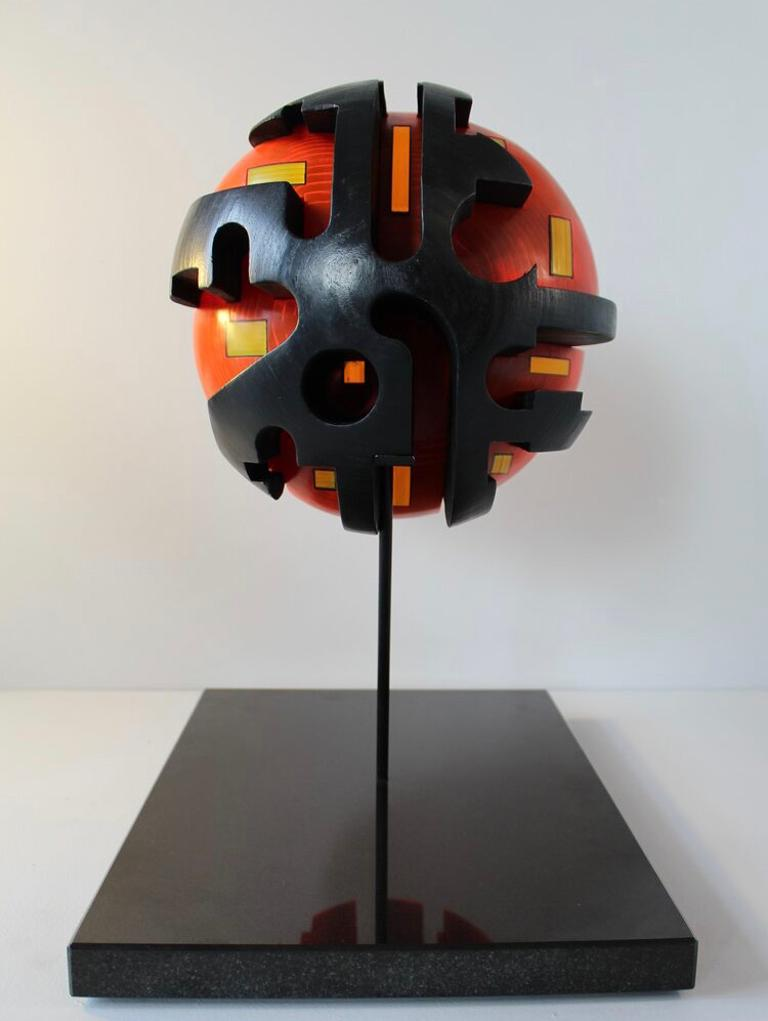 Baraka - contemporary mixed media red abstract sculpture  For Sale 1