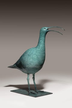 'Calling Curlew' Solid Bronze Nature & Wildlife Sculpture by Richard Smith