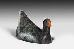 Contemporary Bronze Wildlife Sculpture 'Moorhen' by Richard Smith