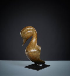 Contemporary large Bronze Wildlife Sculpture 'Pintail Head' by Richard Smith