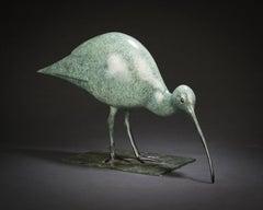 'Curlew' Solid Bronze Bird Nature & Wildlife Sculpture by Richard Smith