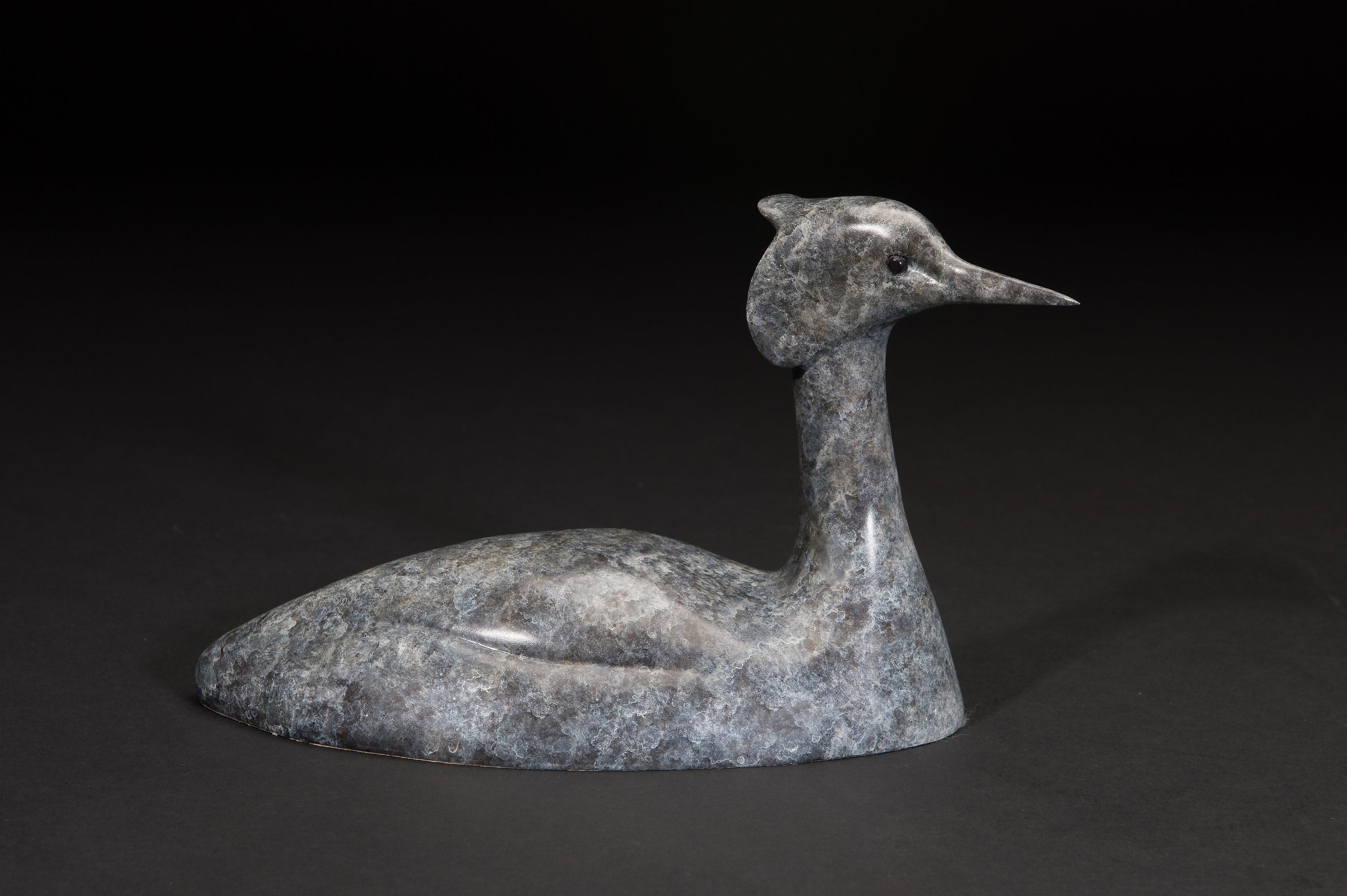 'Grebe II' Solid Bronze Bird Wildlife & Nature Sculpture by Richard Smith