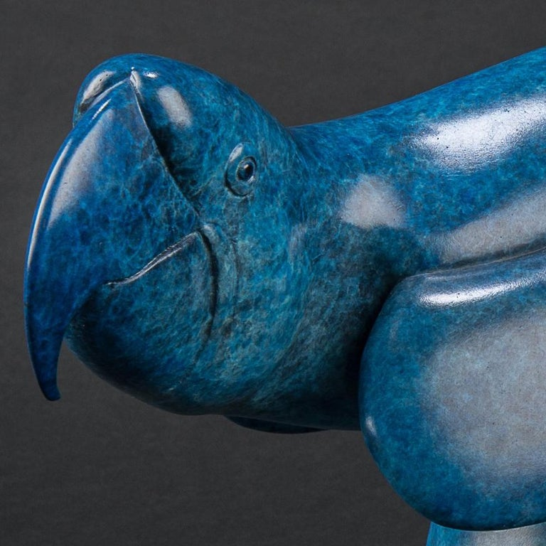 'Lying Hare' is a stunningly elegant Bronze sculpture. Richard Smith conveys so much character in such simple lines, exemplifying a truly wonderful talent. The fantastic richly detailed Blue Patina really adds to the depth of the work.  Richard