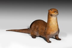Original Bronze Wildlife Sculpture 'Pottering Otter' by Richard Smith