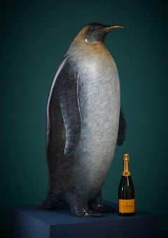 'The Emperor' Contemporary Bronze Animal Sculpture of an Emperor Penguin
