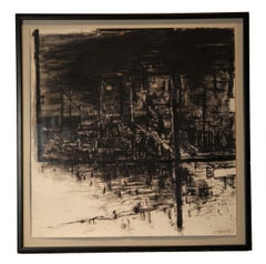 Black and White Abstract Cityscape