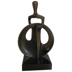 Richard Switzer 1994 Bronze Abstract Sculpture