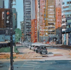 20th St, Painting, Oil on Other
