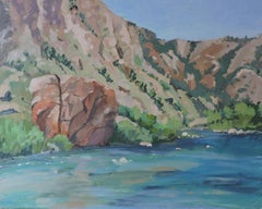 Arkansas River, Painting, Oil on Other