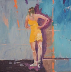 Ballet I, Painting, Oil on Wood Panel