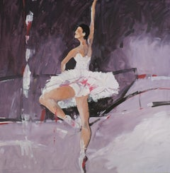 ballet II, Painting, Oil on Wood Panel