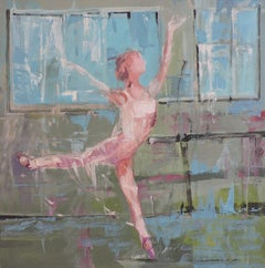 Ballet III, Painting, Oil on Wood Panel