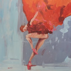 Ballet IV, Painting, Oil on Wood Panel