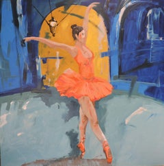 Ballet V, Painting, Oil on Wood Panel