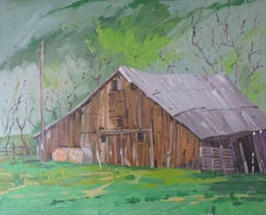 Barn, Painting, Oil on Other