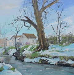 Big Dry Creek East, Painting, Oil on Canvas