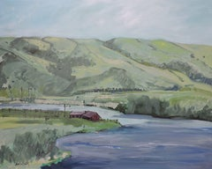 Big Horn River, Painting, Oil on Other