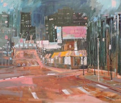 Broadway, Painting, Oil on Wood Panel