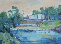 Canal, Painting, Oil on Other