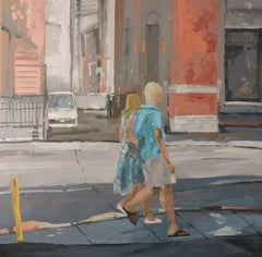 City Walk, Painting, Oil on Other