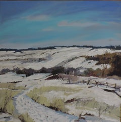 February Snow, Painting, Oil on Other