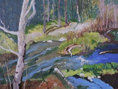 Forest Stream, Painting, Oil on Other