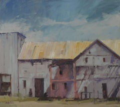 Gray Warehouse, Painting, Oil on Other