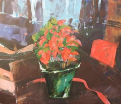 Holiday Flower, Painting, Oil on Wood Panel