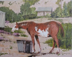 Horse Sketch #4, Painting, Oil on Wood Panel