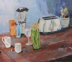 Kitchen Counter, Painting, Oil on Wood Panel