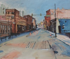 Market St, Painting, Oil on Other