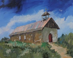 New Mexico Chapel, Painting, Oil on Other