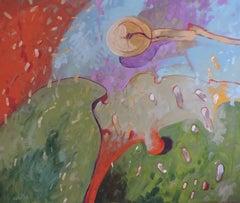 Sunrise, Painting, Oil on Wood Panel