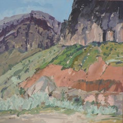 Vertical by Shoshone River, Painting, Oil on Other