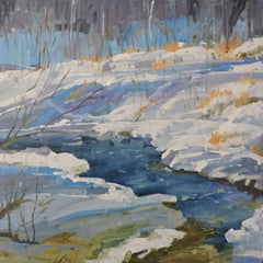 Winter in Blue, Painting, Oil on Wood Panel