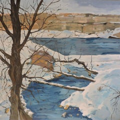 Yellowstone River Snow, Painting, Oil on Other