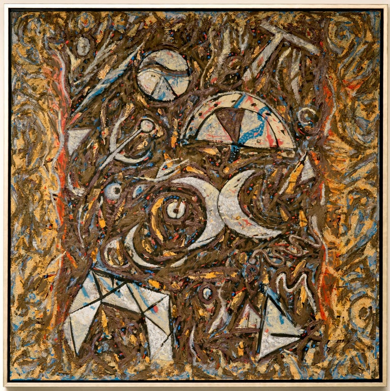 French Richard Texier Abstract Oil Painting