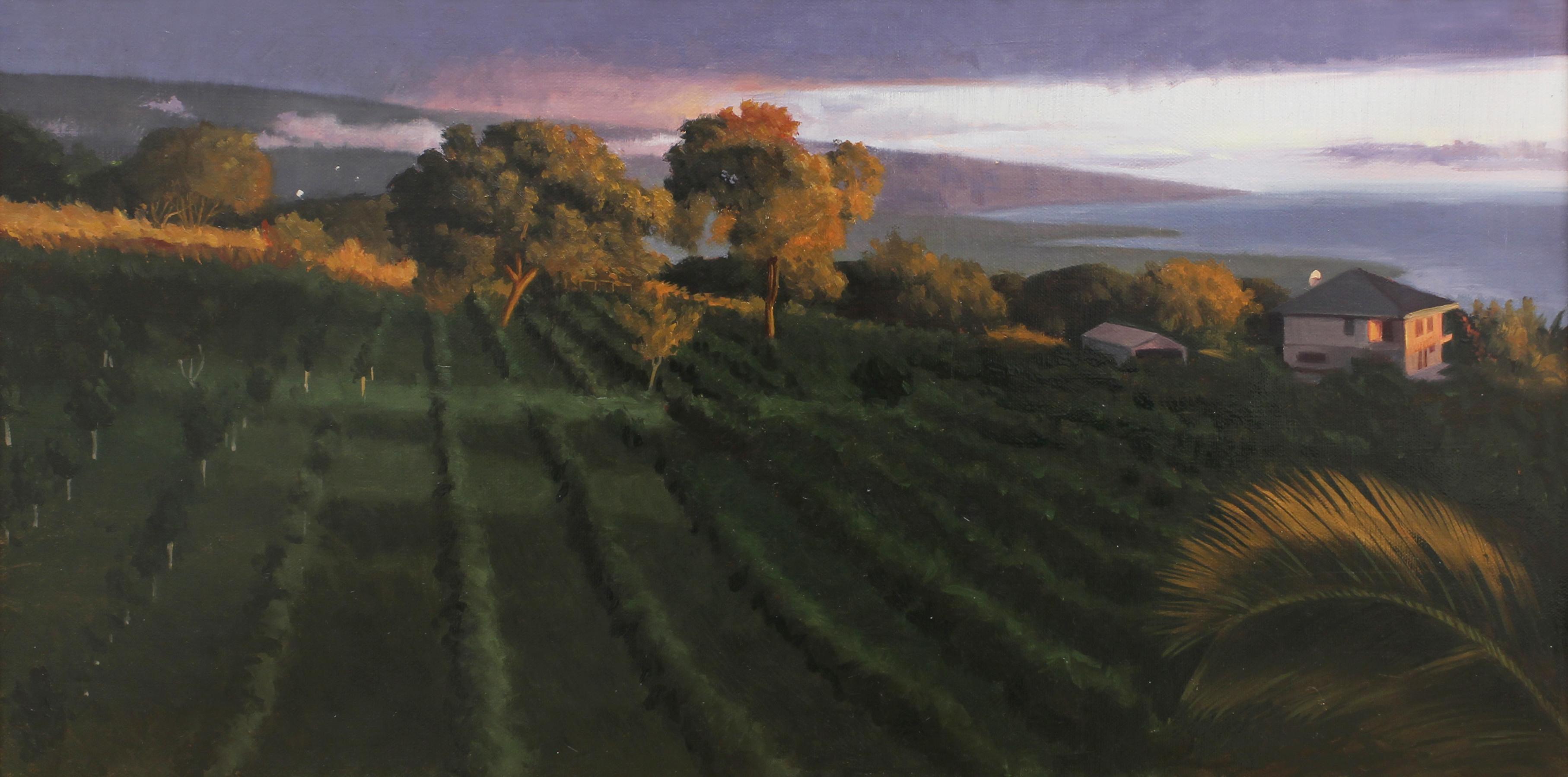 """Kona"" - Nocturne - Landscape Painting - American Realism - Wyeth"