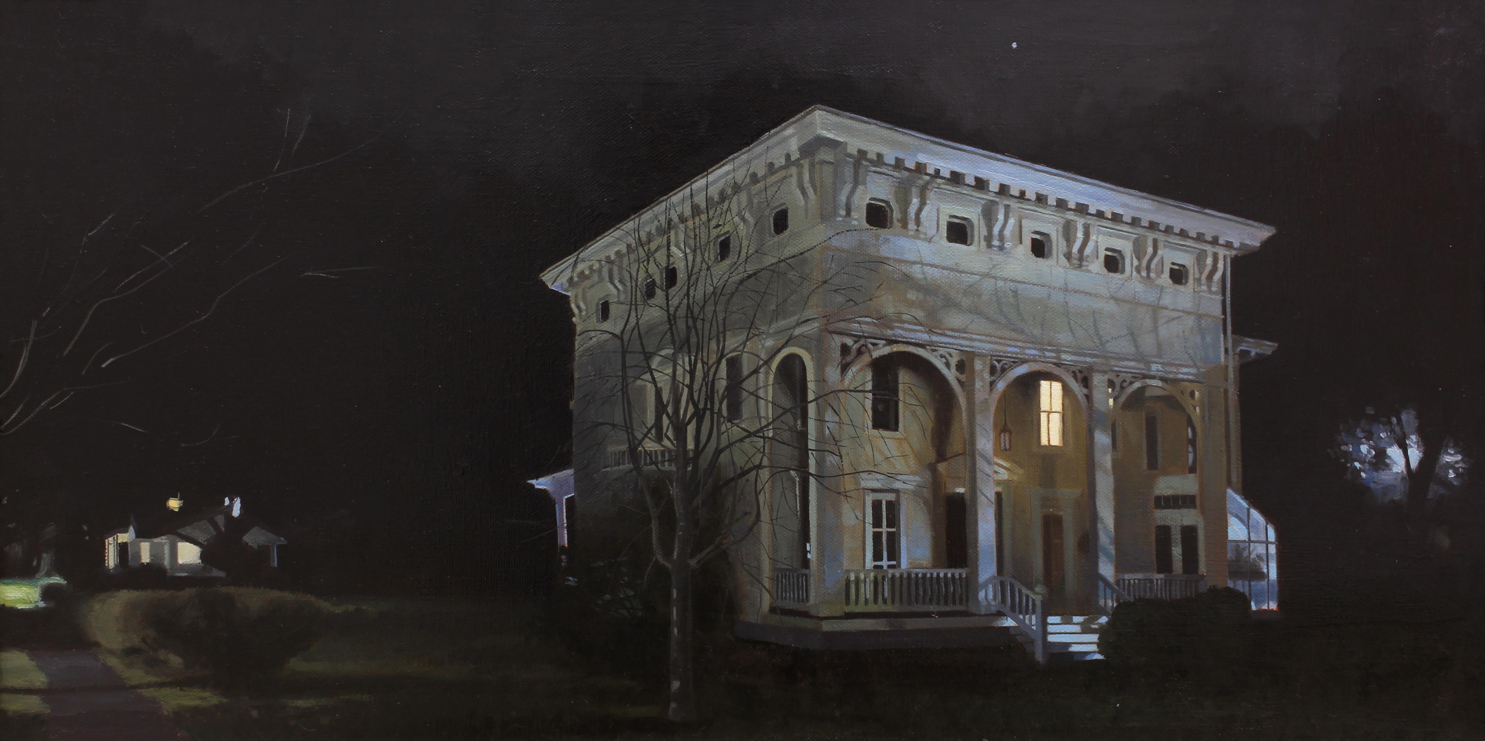 """""""Satellite"""" - Nocturne - Architectural Painting - American Realism - Wyeth"""